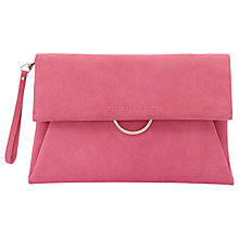 Buy Mint Velvet Fleur Clutch Bag, Pink Flamingo Online at johnlewis.com