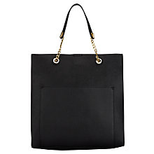 Buy Miss Selfridge Chain Handle Tote Bag, Black Online at johnlewis.com