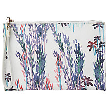 Buy Whistles Fleur Printed Wristlet, Blue/Multi Online at johnlewis.com
