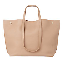 Buy Whistles Hamilton Unlined Stud Leather Tote Bag Online at johnlewis.com