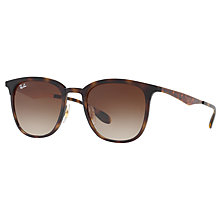 Buy Ray-Ban RB4278 Square Sunglasses, Tortoise/Brown Gradient Online at johnlewis.com