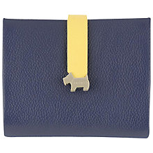 Buy Radley Hamilton Leather Medium Foldover Purse, Navy Online at johnlewis.com