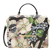 Buy Ted Baker Emmy Gem Gardens Shoulder Bag, Black/Multi Online at johnlewis.com