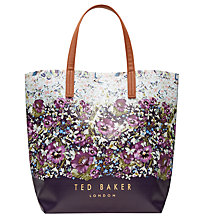 Buy Ted Baker Beca Enchanted Entanglement Tote Bag, Navy/Multi Online at johnlewis.com