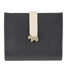 Buy Radley Hamilton Leather Medium Foldover Purse, Black Online at johnlewis.com