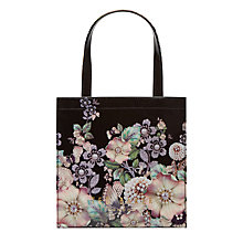 Buy Ted Baker Chycon Gem Gardens Small Shopper Bag, Black/Multi Online at johnlewis.com