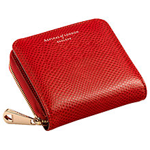 Buy Aspinal of London Leather Continental Clutch Wallet, Red Lizard Online at johnlewis.com