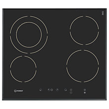 Buy Indesit IPG640S Electric Hob, Black Matte Online at johnlewis.com