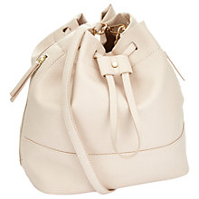 Buy Miss Selfridge Slouch Bucket Bag, Nude Online at johnlewis.com