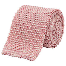 Buy Reiss Celter Silk-Blend Knitted Tie, Soft Pink Online at johnlewis.com