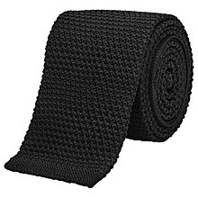 Buy Reiss Shaun Slim Knitted Silk Tie, Black Online at johnlewis.com