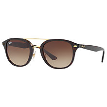 Buy Ray-Ban RB2183 Square Sunglasses, Tortoise/Brown Gradient Online at johnlewis.com