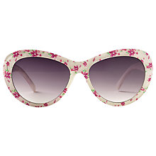 Buy Fat Face Children's Floral Print Sunglasses, Cream/Fuchsia Online at johnlewis.com