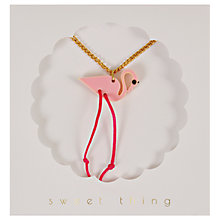 Buy Meri Meri Children's Flamingo Necklace Online at johnlewis.com
