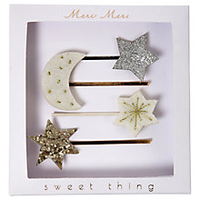 Buy Meri Meri Children's Moon and Star Hair Slides, Pack of 4 Online at johnlewis.com