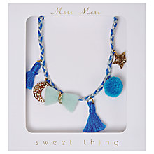Buy Meri Meri Children's Plaited Necklace, Blue Online at johnlewis.com