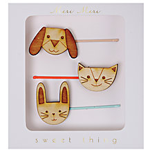 Buy Meri Meri Children's Wooden Animal Hair Pins, Pack of 3 Online at johnlewis.com