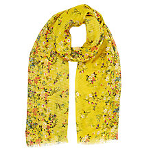Buy Oasis Ditsy Scarf, Ochre Online at johnlewis.com