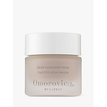 Buy Omorovicza Deep Cleansing Mask, 50ml Online at johnlewis.com