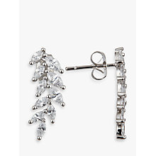 Buy Ivory & Co. Marquise Cubic Zirconia Cluster Drop Earrings, Silver Online at johnlewis.com