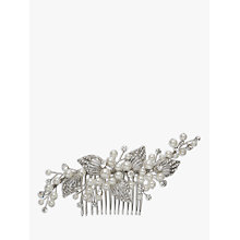 Buy Ivory & Co. Faux Pearl and Cubic Zirconia Pave Leaf Hair Comb, Silver Online at johnlewis.com