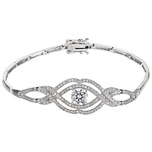 Buy Ivory & Co. Cubic Zirconia Rose Bracelet, Silver Online at johnlewis.com