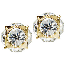 Buy kate spade new york Lady Marmalade Stud Earrings, Gold/Clear Online at johnlewis.com