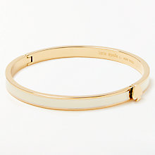 Buy kate spade new york Thin Enamel Heart Charm Hinge Bangle, Cream/Gold Online at johnlewis.com