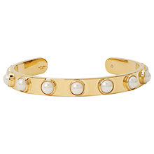 Buy kate spade new york Tag Along Gold Plated Faux Pearl Open Bangle Online at johnlewis.com