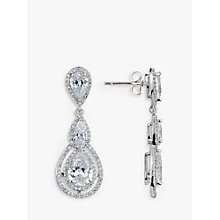 Buy Ivory & Co. Triple Teardrop Cubic Zirconia Drop Earrings, Silver Online at johnlewis.com