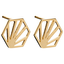 Buy Rachel Jackson London Large Open Hexagon Stud Earrings Online at johnlewis.com