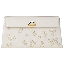 Buy L.K. Bennett Miriam Clutch Bag, Cream Online at johnlewis.com