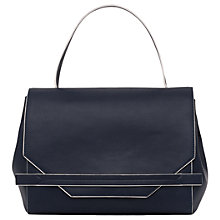 Buy French Connection Cynthia Tote Bag, Utility Blue/White Online at johnlewis.com