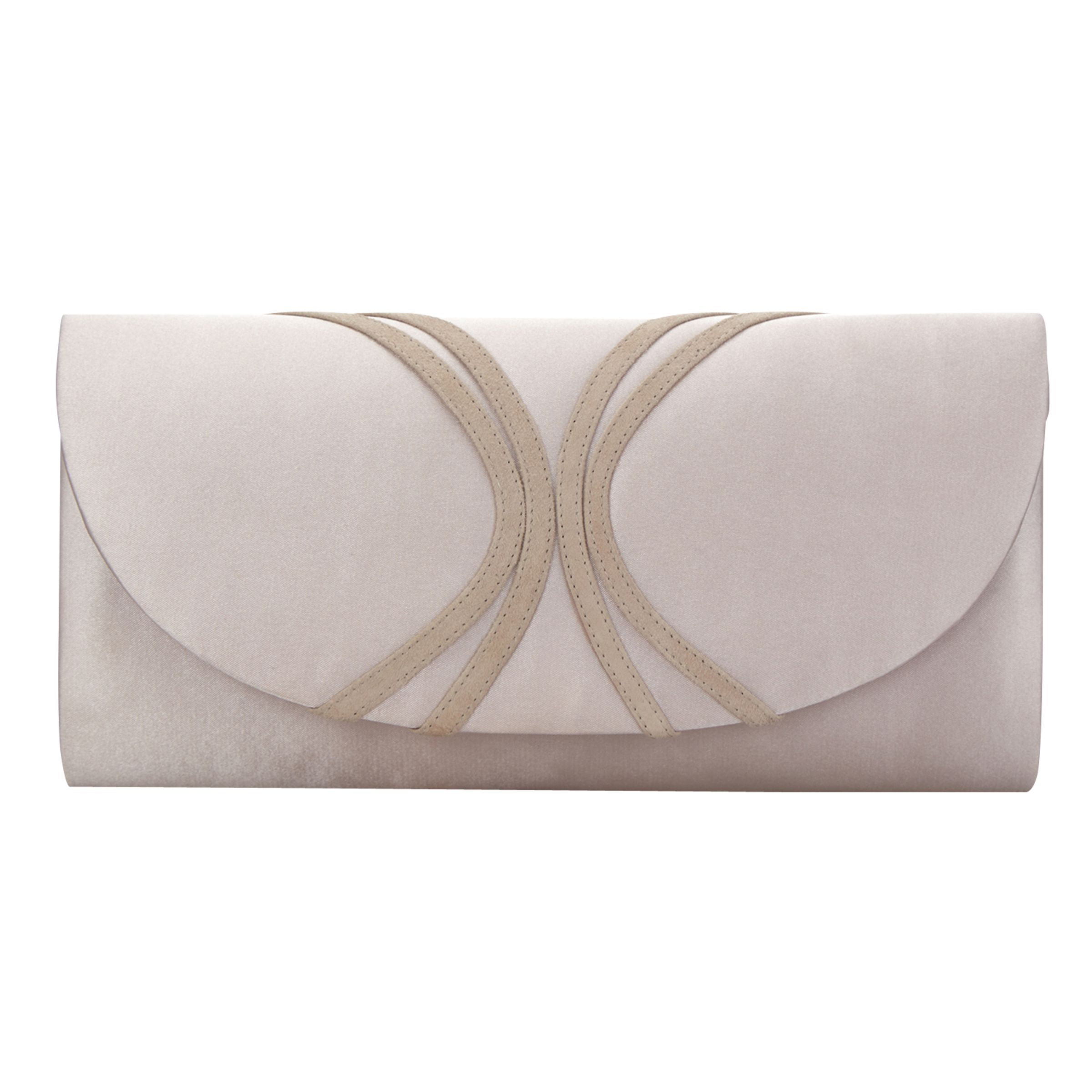 Jacques Vert Jacques Vert Piped Clutch Bag, Mid Neutral