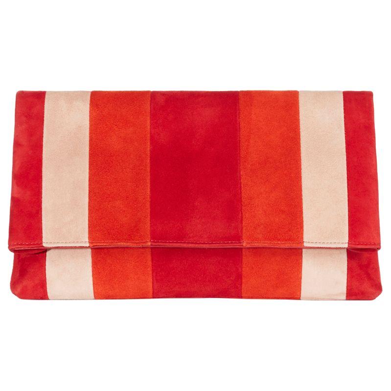 Karen Millen Karen Millen Striped Brompton Clutch Bag, Multi