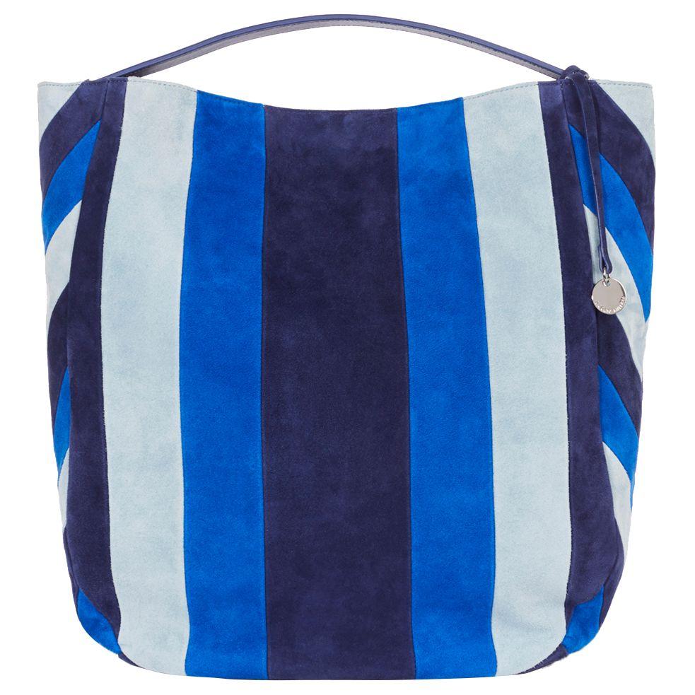 Karen Millen Karen Millen Stripe Sling Shoulder Bag, Blue