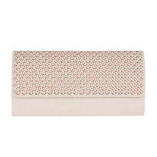 Buy Coast Nia Hotfix Laser Cut Clutch Bag, Neutral Online at johnlewis.com