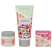 Buy Heathcote & Ivory Vintage Fabric & Flowers Lovelier Hands Gift Set Online at johnlewis.com