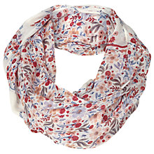 Buy Fat Face Folk Floral Snood Scarf, Ivory/Multi Online at johnlewis.com