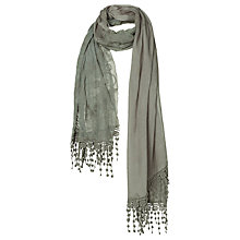Buy Fat Face Butterfly Lace Embroidery Scarf, Celadon Online at johnlewis.com