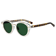 Buy Christian Dior Blacktie2.0S K Oval Sunglasses, Clear Tortoise/Green Online at johnlewis.com