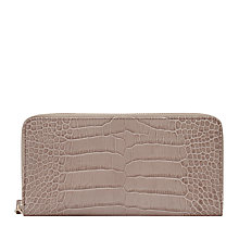 Buy Reiss Murph Zip Purse, Neutral Online at johnlewis.com