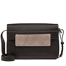 Buy Jaeger Contrast Pocket Shoulder Bag, Black / Grey Online at johnlewis.com