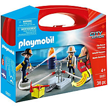 Buy Playmobil City Action Fire Rescue Carry Case Online at johnlewis.com