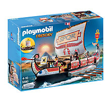 Buy Playmobil History Roman Warriors Ship Online at johnlewis.com
