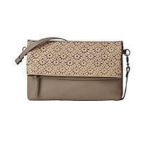 Buy White Stuff Ethel Cut Out Leather Clutch Bag, Grey Online at johnlewis.com