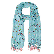 Buy White Stuff Flutter Heart Scarf, Bluebird Online at johnlewis.com