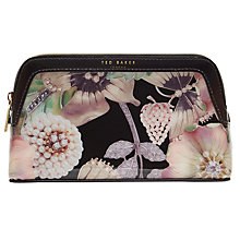 Buy Ted Baker Ottalin Gem Gardens Make-Up Bag, Black/Multi Online at johnlewis.com