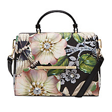 Buy Ted Baker Elloise Gem Gardens Small Tote Bag, Black Online at johnlewis.com