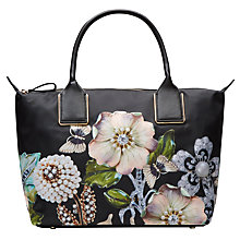 Buy Ted Baker Iyesha Gem Gardens Small Tote Bag, Black Online at johnlewis.com